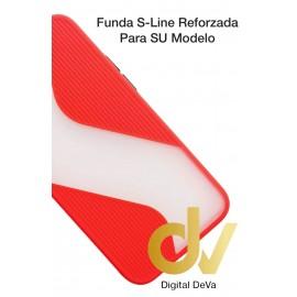 Redmi Note 9 Xiaomi Funda S-Line Reforzada Rojo