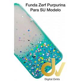 iPhone 12 5.4 Funda Zerf Purpurina Azul Turques