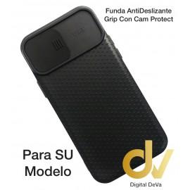 A12 5G Samsung Funda AntiDeslizante Grip Con Cam Protect Negro