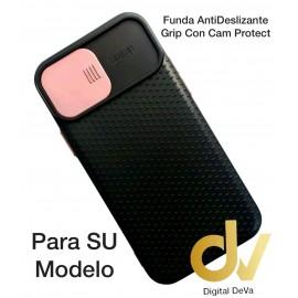 A12 5G Samsung Funda AntiDeslizante Grip Con Cam Protect Rosa