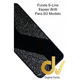 iPhone 12 6.1 Funda Brilli Espejo S-Line Negro
