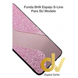 iPhone 12 6.1 Funda Brilli Espejo S-Line Rosa