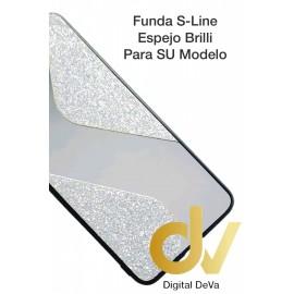 A12 5G Samsung Funda Brilli Espejo S-Line Plata