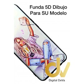 A52 / A72 Oppo Funda Dibujo 5D Chica Bella