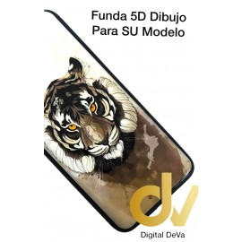 A73 / F17 Oppo Funda Dibujo 5D Tigre