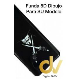 A73 / F17 Oppo Funda Dibujo 5D Anonimo