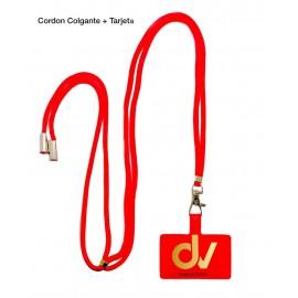 Cordon Colgante + Tarjeta Rojo