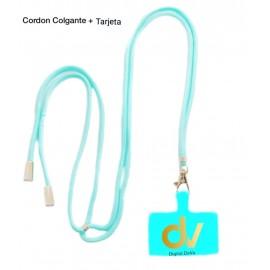 Cordon Colgante + Tarjeta Azul Turques