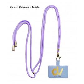 Cordon Colgante + Tarjeta Lila