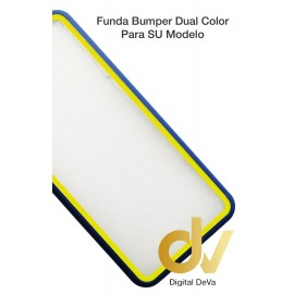 A15 Oppo Funda Dual Color Pvc Bumper Azul