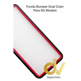 Reno 3 Oppo Funda Dual Color Pvc Bumper Negro