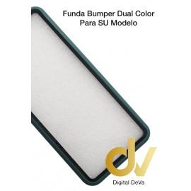 Reno 3 Oppo Funda Dual Color Pvc Bumper Verde