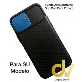 A02S Samsung Funda AntiDeslizante Grip Con Cam Protect Azul
