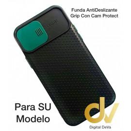 A02S Samsung Funda AntiDeslizante Grip Con Cam Protect Verde