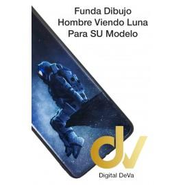 S21 Ultra 5G Samsung Funda Dibujo 5D Hombre Mirando Luna
