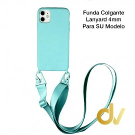 iPhone X / XS Funda Colgante Langyard 4mm Azul Turques