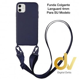 iPhone 7G / 8G Funda Colgante Langyard 4mm Azul Oscuro