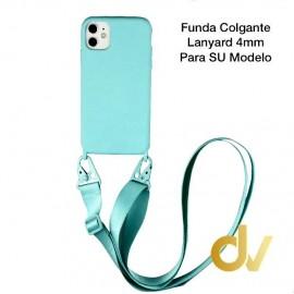 iPhone XS Max Funda Colgante Langyard 4mm Azul Turques