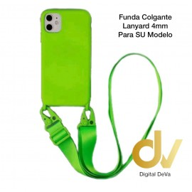 iPhone 11 Funda Colgante Langyard 4mm Verde Neon
