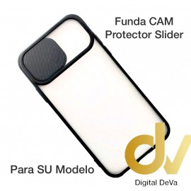 S21 5G Funda CAM Protector Slider Negro