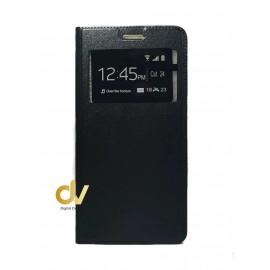 A02S Samsung Funda Libro 1 Ventana Con Cierre Imantada Negro