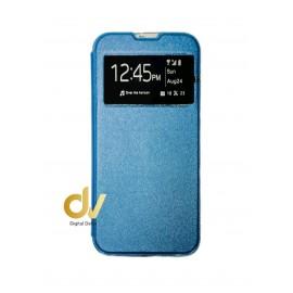 A02S Samsung Funda Libro 1 Ventana Con Cierre Imantada Azul