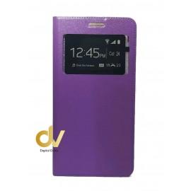 A52 5G Samsung Funda Libro 1 Ventana Con Cierre Imantada Lila