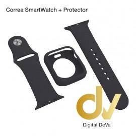 Correa SmartWatch + Protector 44mm Negro