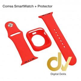 Correa SmartWatch + Protector 44mm Rojo