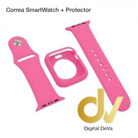 Correa SmartWatch + Protector 44mm Rosa