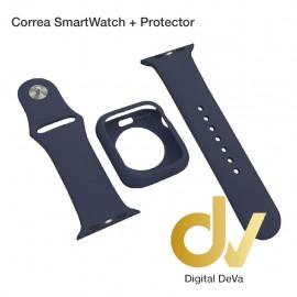 Correa SmartWatch + Protector 42mm Azul Oscuro