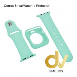Correa SmartWatch + Protector 40mm Azul Turquesa