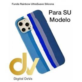 iPhone X / XS Funda Rainbow UltraSuave Silicona Azul