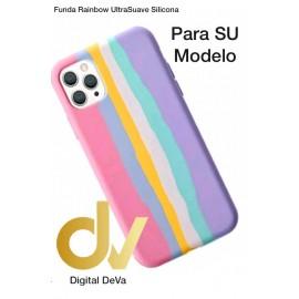 iPhone XS Max Funda Rainbow UltraSuave Silicona Rosa