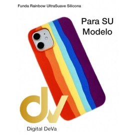 iPhone 11 Pro Max Funda Rainbow UltraSuave Silicona Rojo