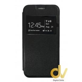 P8 Lite Huawei Funda Libro 1 Ventana Satinado Sin Iman Negro