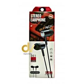 Auricular Microfono UN-D21 Negro