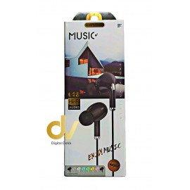 Auricular Buds Microfono U28 Negro