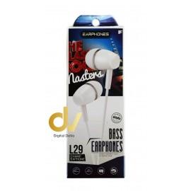 Auricular Microfono L29 Blanco