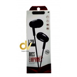 Auricular Microfono L29 Negro