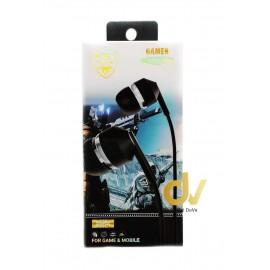 Auricular Microfono KWY-21 Negro
