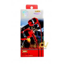Auricular Microfono KWY-21 Rojo