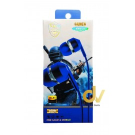 Auricular Microfono KWY-21 Azul