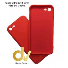 iPhone X / XS Funda Silicona Soft 2mm Rojo