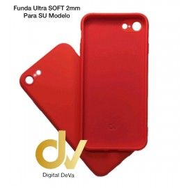 iPhone 7 Plus / 8 Plus Funda Silicona Soft 2mm Rojo