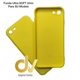 iPhone X / XS Funda Silicona Soft 2mm Amarillo