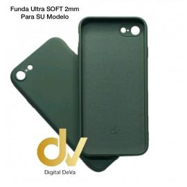 iPhone X / XS Funda Silicona Soft 2mm Verde Militar