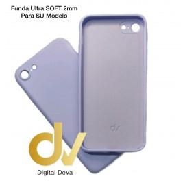 iPhone X / XS Funda Silicona Soft 2mm Lavanda