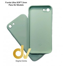 iPhone X / XS Funda Silicona Soft 2mm Verde Sage