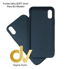 iPhone XS Max Funda Silicona Soft 2mm Azul